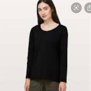 Lululemon Emerald Long Sleeve Top Black